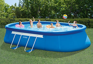 Intex Oval Frame Pool Set, 20-Feet-by-12-Feet-by-48-Inch