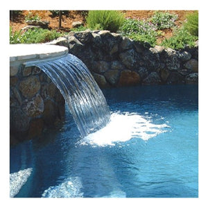 Zodiac 1103G 3-Feet Back Feed Sheer Descent Waterfall with 1-Inch Light Gray Standard Lip
