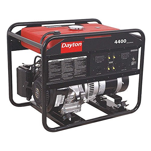 Dayton 38AW97 Gasoline Portable Generator 4400W 120/240VAC Recoil Conventional