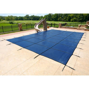 20'X40' Rectangle Mesh Safety Pool Cover - Blue - 18yr Warranty