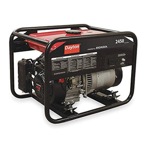 Dayton 2ZRP6 Gasoline Portable Generator 2450W 120VAC Recoil Conventional