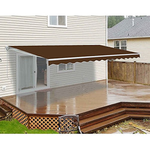 ALEKO AW10X8BROWN36 Retractable Patio Awning 10 x 8 Feet Brown