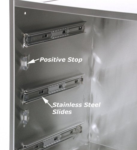 Solaire Single Deep Utility Drawer for Built-in Islands, Stainless Steel