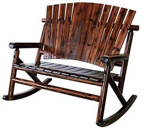 United General Supply TX93866 Natural Organic Char-Log Wood Double Rocker