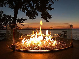 "Gas Outdoor Fire Pit Table Oriflamme Savanna (38"" Table Top)"