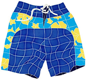 "Artistry in Mosaics Board Shorts Ceramic Swimming Pool Mosaic (20"" x 21"", Blue)"