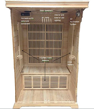 SunRay Evansport 2 Person Infrared Sauna