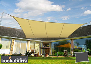 "Kookaburra Waterproof Sun Sail Shade - Sand - 16ft 5"" X 13ft 1"" Rectangular"