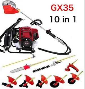 CHIKURA Multi 4 stroke Backpack GX35 Long Reach Pole Chainsaw Brush Cutter Pruner weed eater