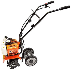 COLIBROX--Home Garden Gas Tiller Powered 2 Cycle Stroke Cultivator Walk Behind Grass soil. Long lasting design for keeping dirt outside of the engine The handle bars provide easy and comfortable.
