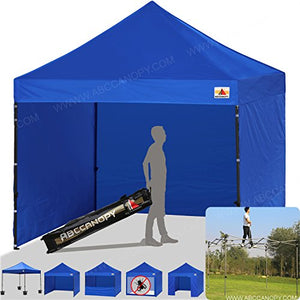 ABCCANOPY Blue 10 X 10 Ez Pop up Canopy Tent Commercial Instant Gazebos with 6 Removable Sides and Roller Bag and 4x Weight Bag