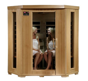 Blue Wave 4Pers Corner Carbon Sauna