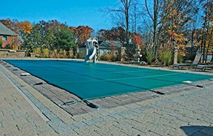 18'x36' Green Mesh Rectangle Inground Safety Pool Cover - 12 Year Warranty - 18 ft x 36 ft In Ground Winter Cover