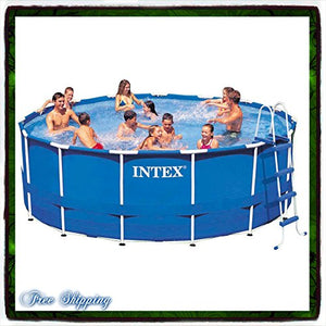 "Pool Swimming Metal Frame Round 15' X 48"" Above Set w/ Filter Intex Pump Filter Pools Swim Discount Patio Family Backyard Summer Fun Wall Walled Safety New Guarantee with Its Only Ebook"