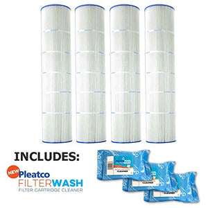 Pleatco Cartridge Filter PA126-PAK4 Hayward Super-Star-Clear C5000 SwimClear C5020 open w/molded gasket CX1260-RE w/ 3x Filter Washes