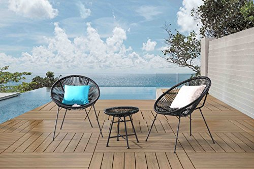 Velago 15806 Acapulco Outdoor Furniture, Black