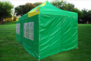 10'x20' Pop UP Canopy Wedding Party Tent Instant EZ UP Canopy Green/Yellow - F Model Commercial Frame By DELTA