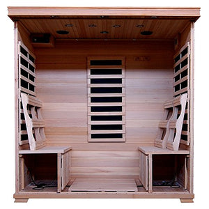 4-Person Hemlock Infrared Sauna w/9 Carbon Heaters