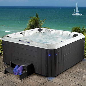 Essential Hot Tubs 100-Jet Calypso Hot Tub, Seats 6-7, Espresso