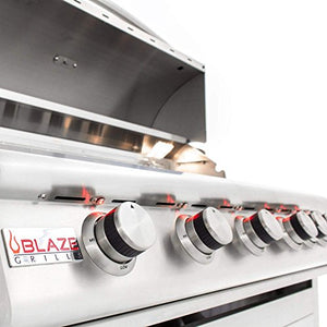Blaze LTE 40-Inch 5-Burner Built-In Propane Grill With Rear Infrared Burner & Grill Lights - BLZ-5LTE-LP