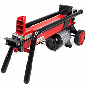 9TRADING Log Splitter Cut Wood Mobile Electrical 7 Tons Cutter Hydraulic Wheel 3400 RPM,Free Tax, Delivered within 10 days