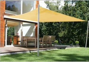 Square Sun Shade Sail Patio Deck Beach Garden Yard Outdoor Canopy Cover-24x24-Sand