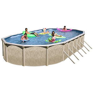 Heritage GA 301552DH-CFP Georgian Complete Above Ground Pool, 30-Feet x 15-Feet x 52-Inch
