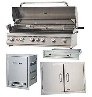 "Bull Outdoor Diablo 6 Burner 46"" Stainless Steel Propane Grill Accessory Package"
