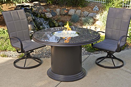 Outdoor GreatRoom Company Grand Colonial Fire Table, Dining Height