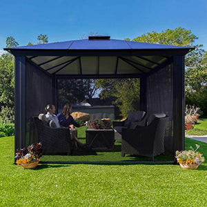 ParagonOutdoor Santa Monica Rolling Screens for 12 X 14 Gazebo