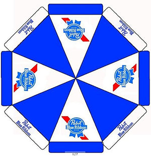 9ft Pabst Blue Ribbon Beer Patio Market Umbrella PBR