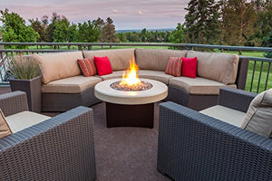 "Oriflamme Gas Fire Pit Table Tuscan Stone. The Award Winning Leader in Outdoor Gas Fire Pit Tables. (38"")"
