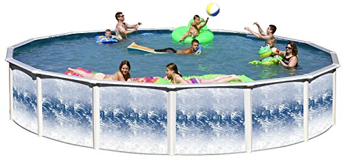 "Swim N Play Yorkshire 21 Ft Round 52"" high Above Ground Swimming Pool"
