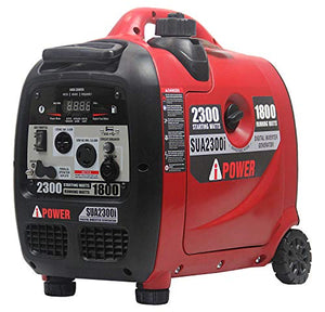 A-iPower SUA2300i 2300-Watt Inverter Generator with Mobility Kit Parallel Ready for Double Power Ultra Quite