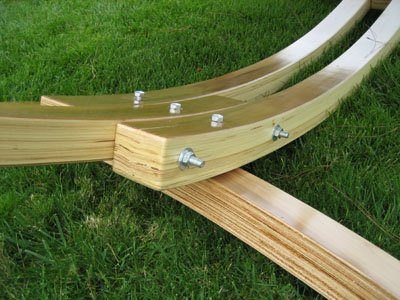 Solid Cypress Wood Arc Hammock Stand …