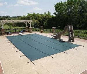 14' X 28' Rectangle In-Ground Pool Safety Cover - Green