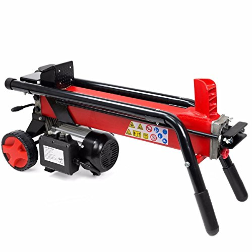Eight24hours Log Splitter Cut Wood Mobile Electrical 7 Tons Cutter Hydraulic Wheel 3400RPM