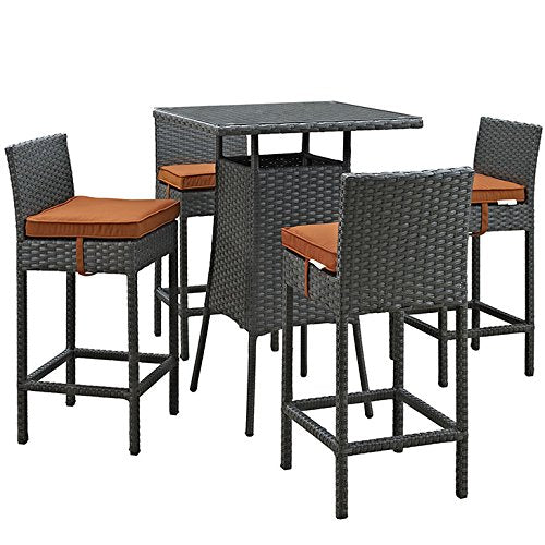 Sojourn 5 Piece Outdoor Patio Sunbrella Pub Set
