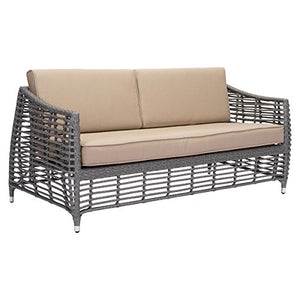 Zuo Modern Gray And Beige Trek Beach Sofa