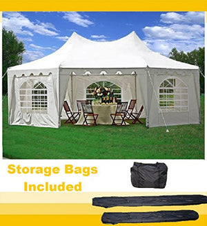 29'x21' Decagonal Wedding Party Tent Canopy Gazebo Heavy Duty Water Resistant White - By DELTA Canopies