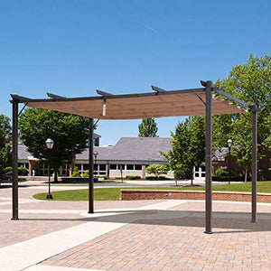 Festnight Outdoor Patio Gazebo Pergola Gazebo Backyard Canopy Cover, Aluminum, 10' x 13'