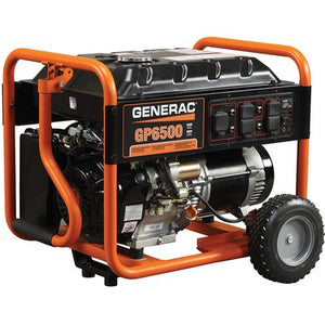 - Generac GP6500 Portable Generator - 389cc OHV, 8125 Surge Watts, 6500 Rated Watts, Model# 5940