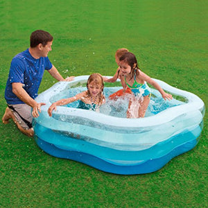 Family swimming pool Inflatable Paddling pool Large ocean Ball Pool Sand pool Inflatable cushion star Pentagon blue