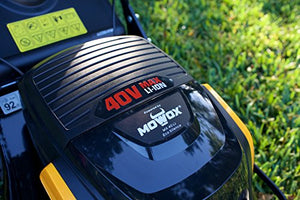"MOWOX MNA19221 40V Battery Powered Self-Propelled Lawn Mower with 18"" Steel Deck (Battery and Charger Included)"