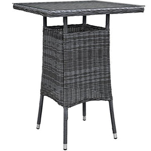 Summon Small Outdoor Patio Bar Table, Gray