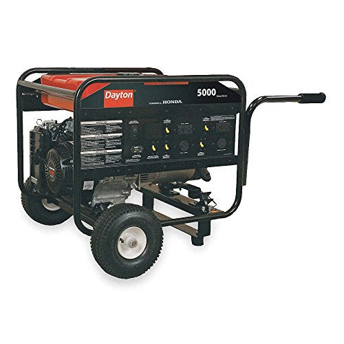 Dayton 2ZRP8 Gasoline Portable Generator 5000W 120/240VAC Recoil Conventional