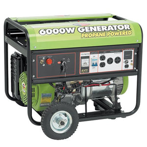 All Power America APG3560CN, 6000W Watt Generator with Electric Start, Portable Propane Generator for Home Use Power Backup, RV Standby, Storm Hurricane Damage Restoration Power Backup, EPA Certified
