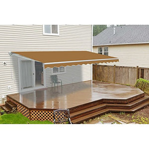 ALEKO AWM13X10SAND31 Retractable Motorized Patio Awning 13 x 10 Feet Sand