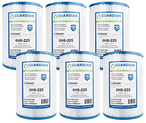 6 Pack Guardian Pool Spa Filter Replaces Unicel 6CH-940 Filbur FC-0359 Pleatco PWW50P3