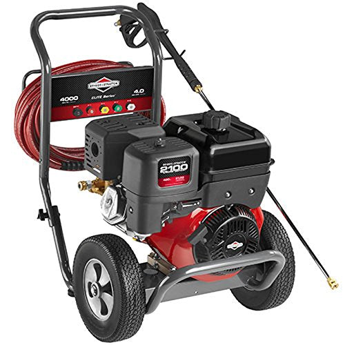Briggs & Stratton Gas Pressure Washer 4000 PSI 4 0 GPM with Triplex Pump, 5  Nozzles, 50' High-Pressure Hose & Detergent Injection